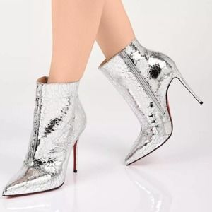 Louboutin NEW!! So Kate Specchio Martele Booties